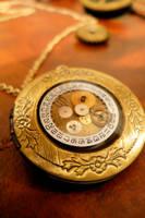 Brass Steampunk Locket by x24