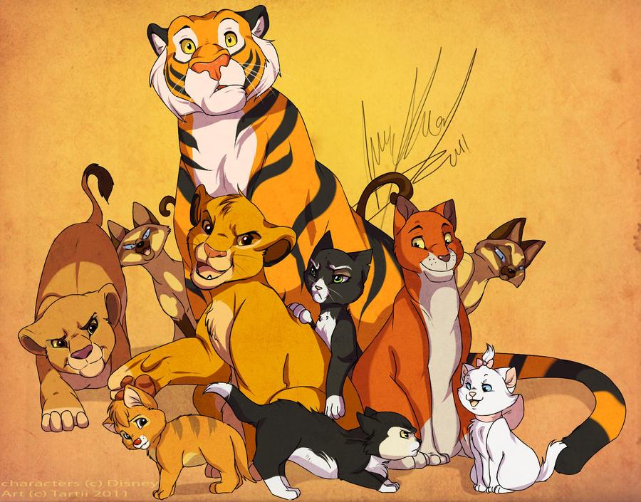 Disney Cats by Tartii on DeviantArt