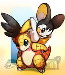 Sandshrew and Emolga