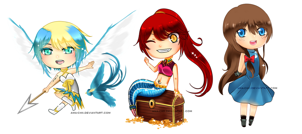 Triple Chibis + UPDATE by ama-chii