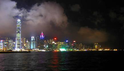 HK skyline at night by paullung