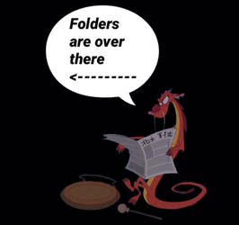 Folders are over there