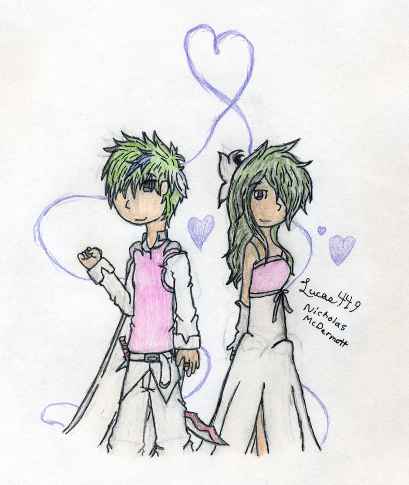 Gijinka couple by lucas449