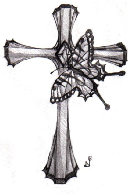 Gothic Cross Tattoo Designs Gallery