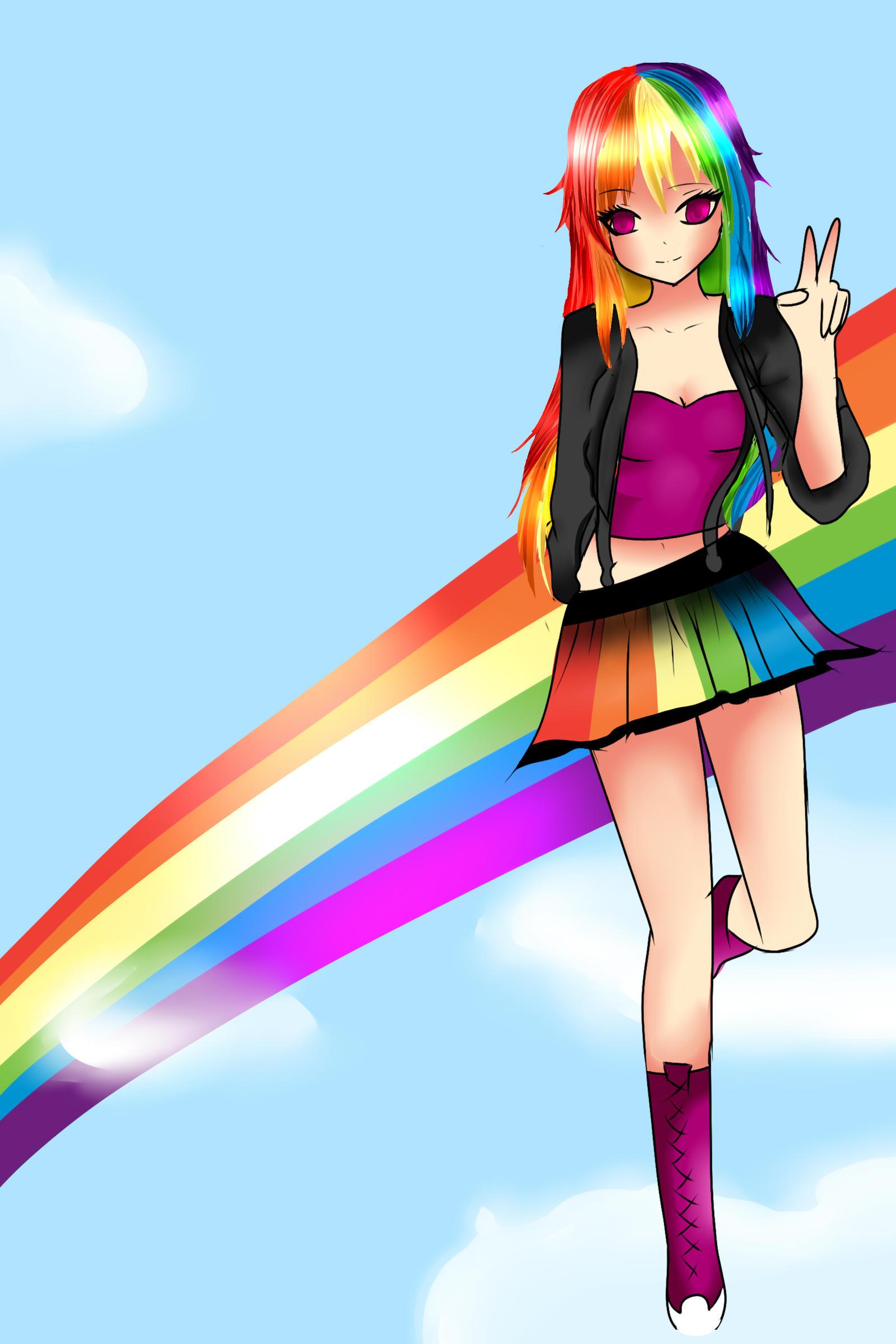 Rainbow Dash Human Boy Rainbow Dash Human by Flutter