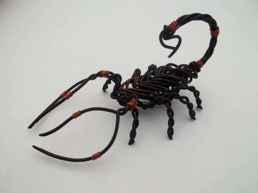 Steel and Copper Wire Scorpion by WireWerx on DeviantArt