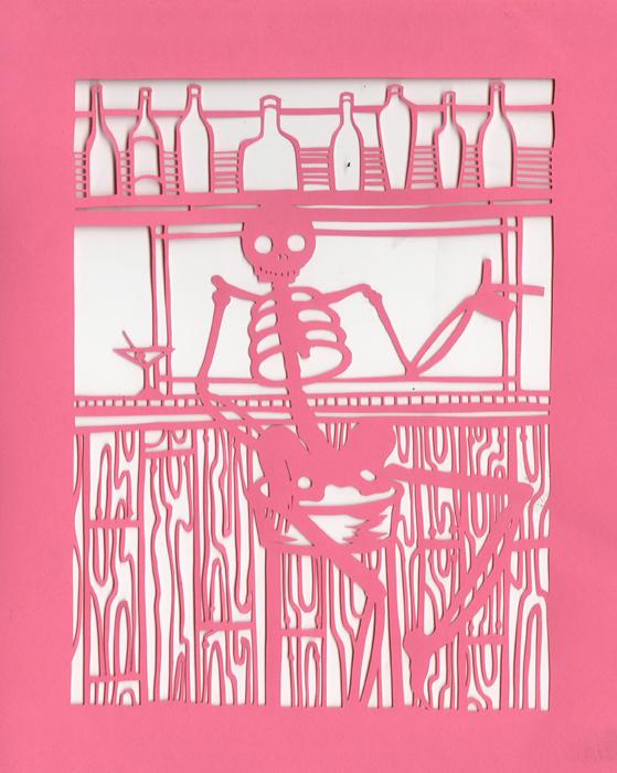 Dia de los Muertos-At the Bar by Muirgheilt