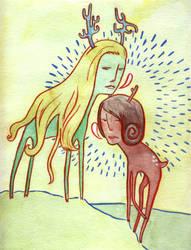 Deer Girls by Muirgheilt