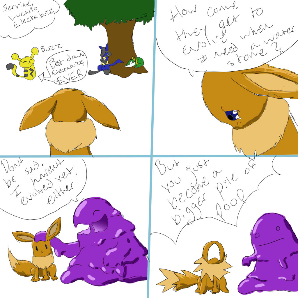 eevee should not be comforted by grimer by protodramon on deviantart