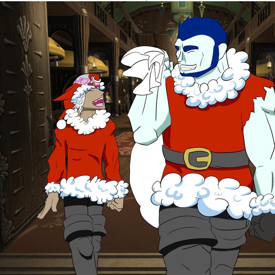 Christmas ff14 by Protodramon