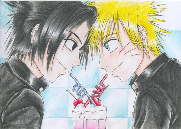 SasuxNaru - Cherry Milkshake by Nisai