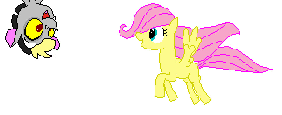 Baby Discord And Fluttershy Filly Fluttershy  and Baby