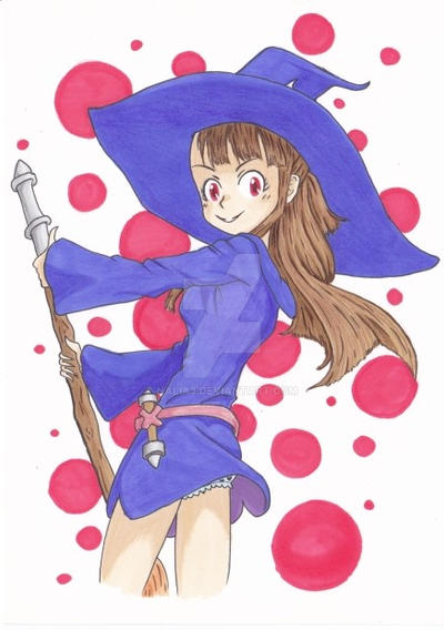Akko from Little witch academia - promarker by Nalia3