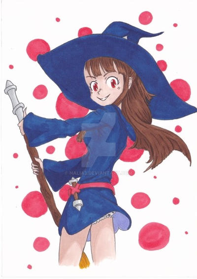 Akko from Little witch academia - graph'it brush by Nalia3