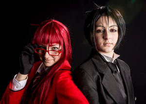 Grell and Sebastian