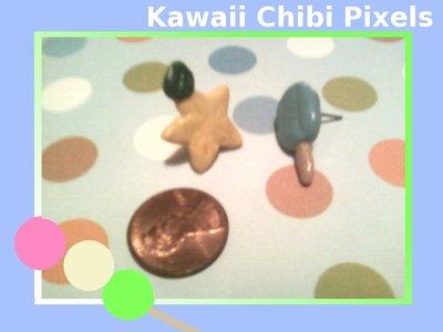 Sea Salt Ice Cream and Paupu Fruit Earring Studs by Kawaiichibipixels