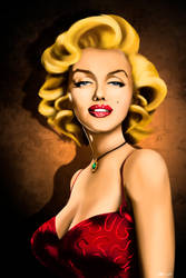 Marilyn Monroe portrait caricature