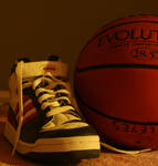 old shoe and basketball