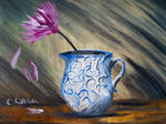 Solitary Flower Traditional Oil Painting