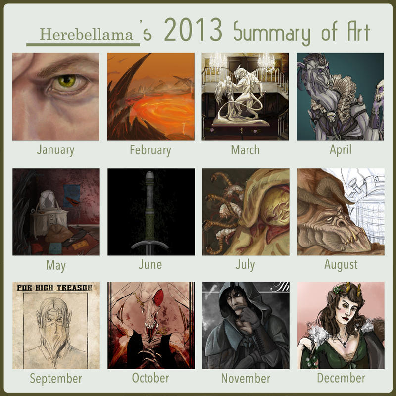 2013 Summery of Art by Herebellama