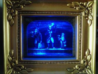 Haunted Mansion light up shadow box by HappyHaunts999