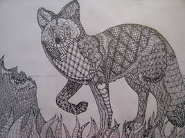 Coyote Zentangle by TakaTheSquirrel