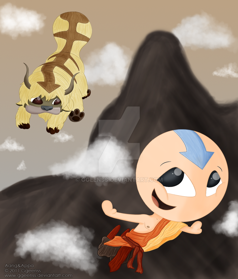 The Last Airbender Movie Appa: Aang And Appa By Ggeenss On DeviantArt