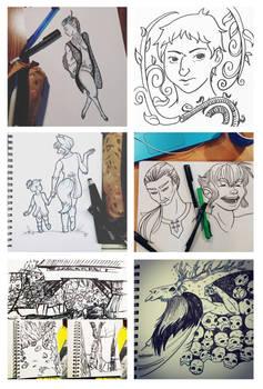 Inktober 2015 - Sketchbooks