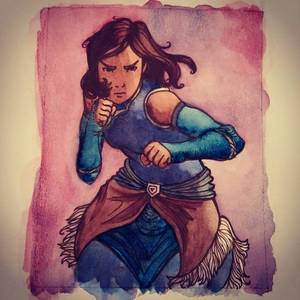 Korra in the Style of Cory Godbey