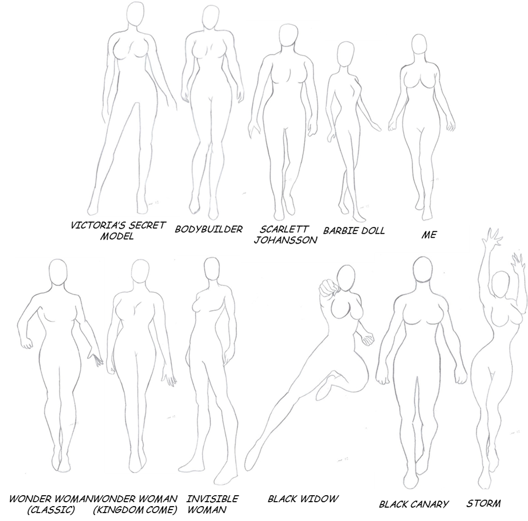 Line Drawing Woman Body : Superhero body references by tinylittlefirefly on deviantart