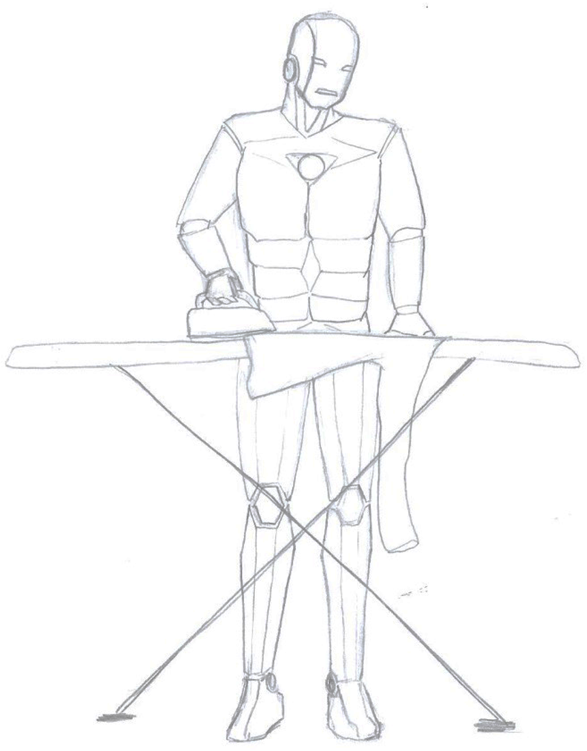 Ironing Man by TinyLittleFirefly