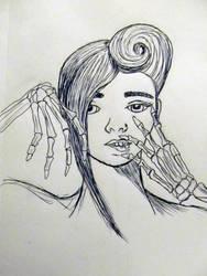 Skeleton Hands Sketch by Larkynn