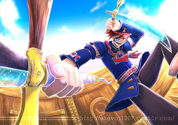 Commission Art - Vyse from Skies of Arcadia by shevoj