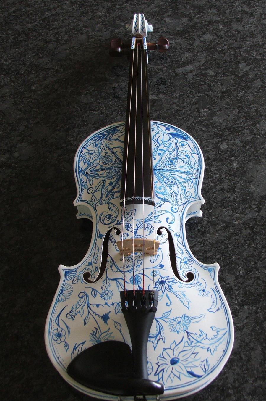 Violin Art by onehundr...