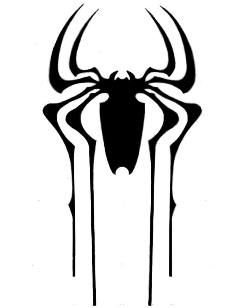Spiderman Spider Logo Stencil