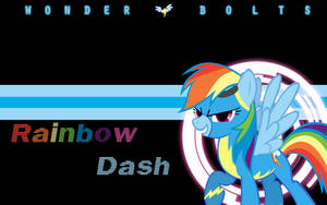 Wonderbolts Wallpaper - Rainbow Dash by l13000