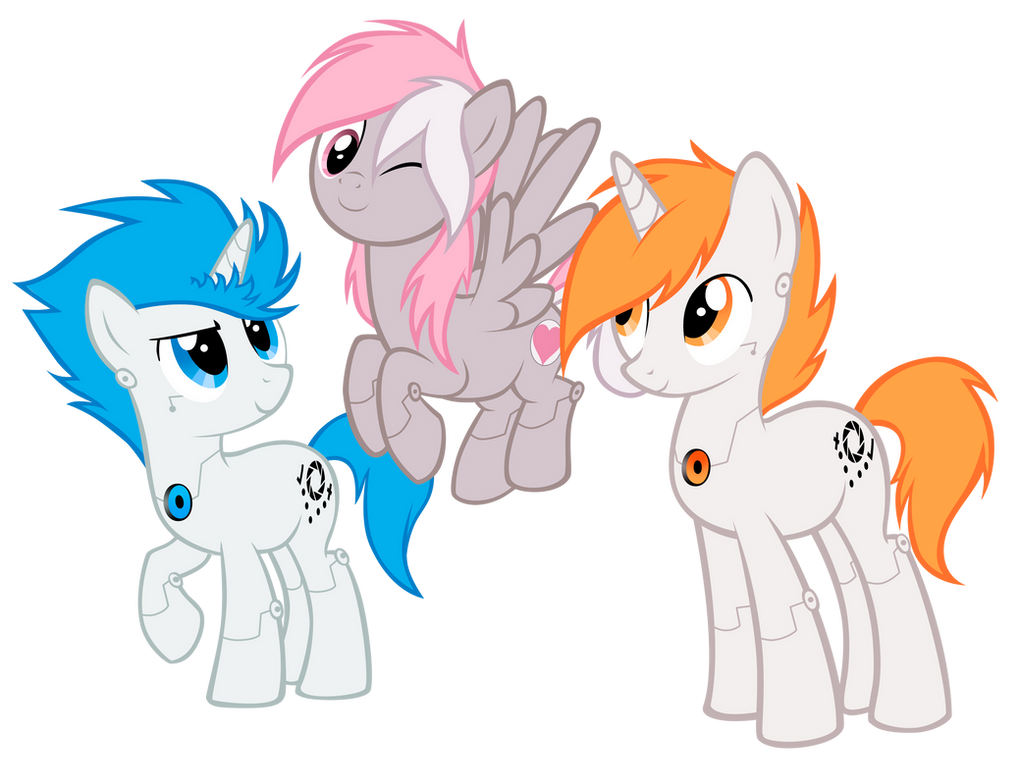 Portal ponies by ILightningStarI