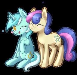 Lyra and Bon Bon by ILightningStarI