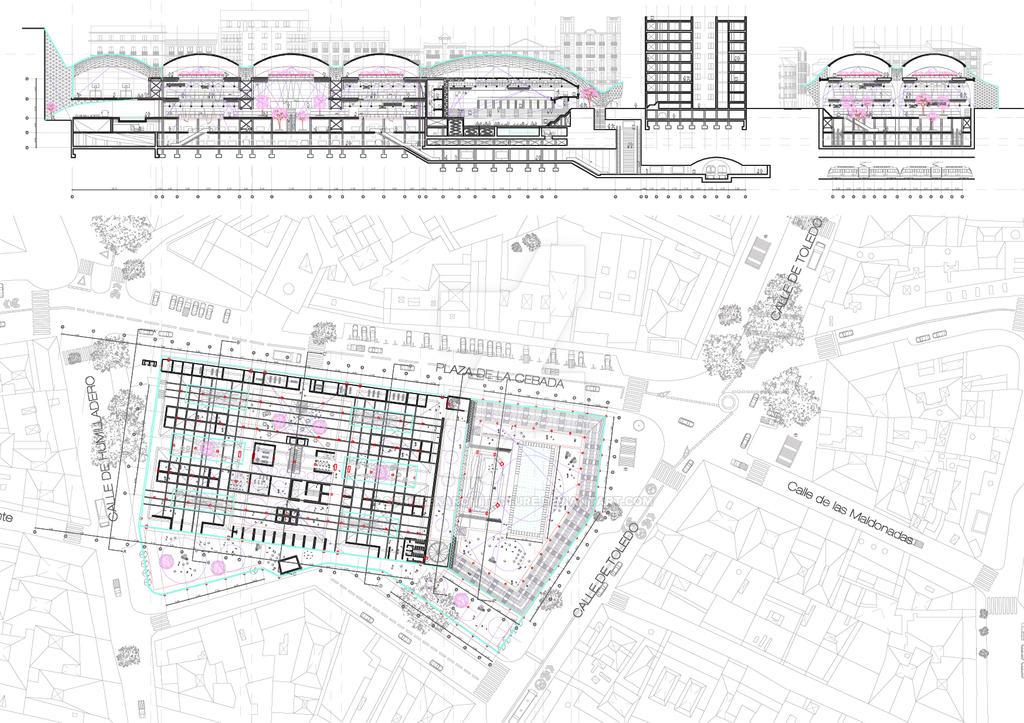 Madrid Cebada Market Project. Rehabilitation. by SchiebekArchitecture on DeviantArt