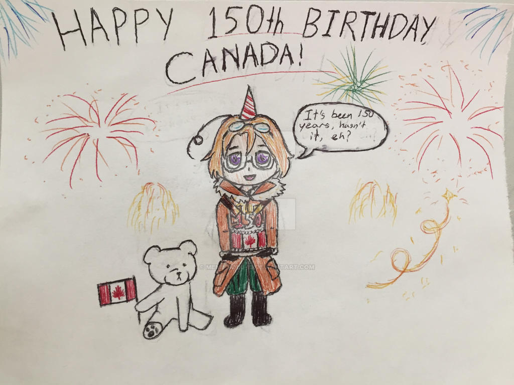 I'm late, but... HAPPY BIRTHDAY CANADA!!!! by MEME-SOUL-13