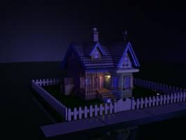 House - Night Scene 1 by MystiqueX