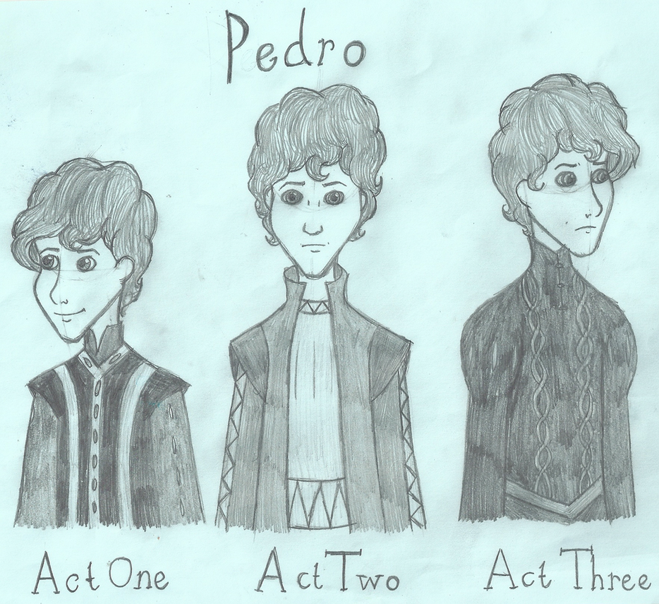 Three Faces of Pedro by SquiddlePrincess