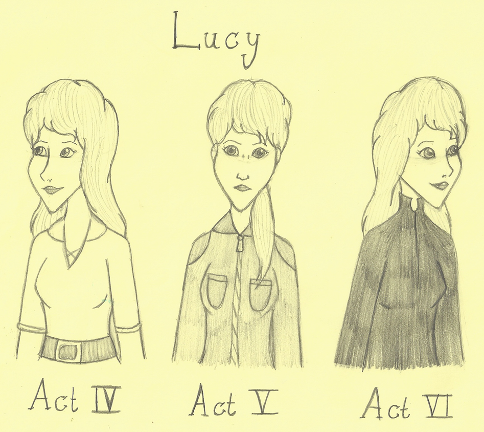 Three Faces of Lucy by SquiddlePrincess
