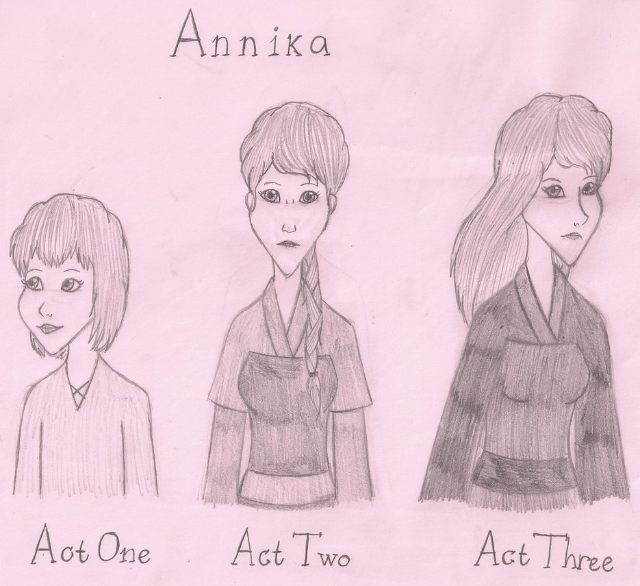 Three Faces of Annika by SquiddlePrincess