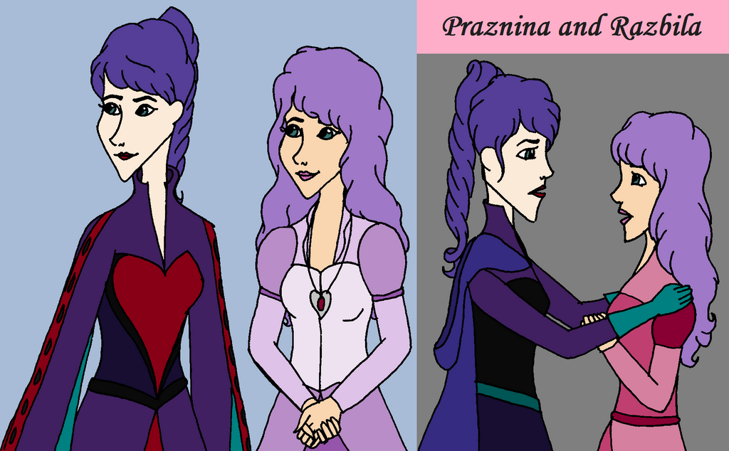 Queen Praznina and Princess Razbila by SquiddlePrincess