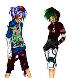 Rei and Spike-Harujuku by zoesensei