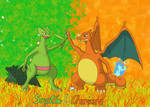 Charizard and Sceptile