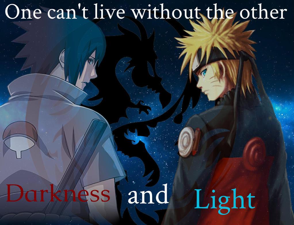 Darkness And Light......Sasuke and Naruto by 18skorpina