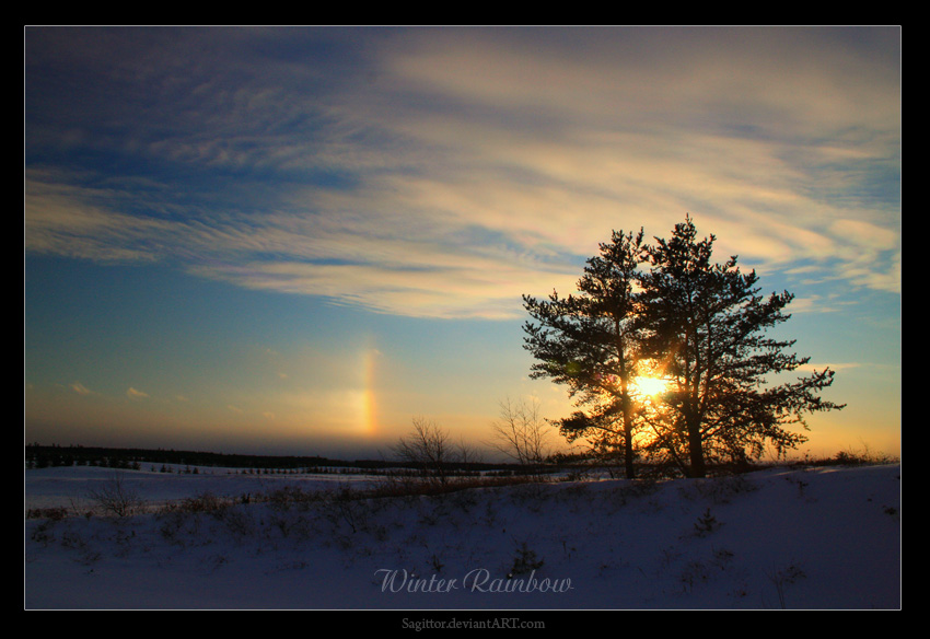 Winter Rainbow by Sagittor