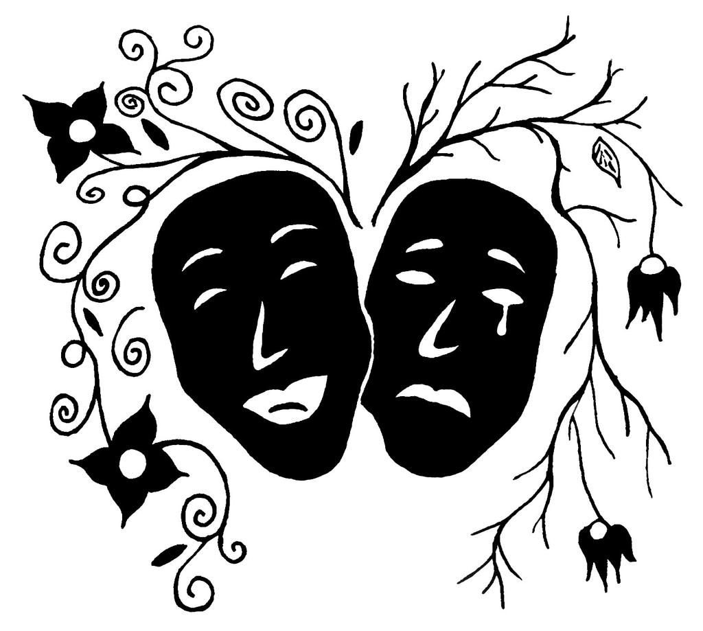 comedy and tragedy by louisecampbell on deviantart. Black Bedroom Furniture Sets. Home Design Ideas